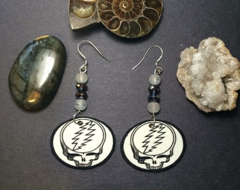 Dead and company / grateful dead inspired steal your face earrings