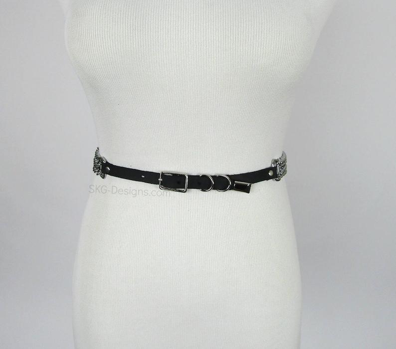 Fiona chain waist belt vegan or leather