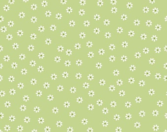 Sew 2 Daisy Green by Riley Blake - Sew Cherry 2 Collection by Lori Holt of Bee In My Bonnet