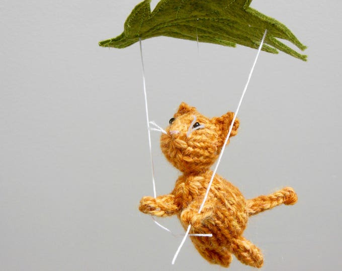 Featured listing image: Cat Baby Mobile, Kitty Baby Mobiles, Tabby Cat Ornament, Baby Hanging Mobile, Christmas Ornament, Cat Nursery Decor, Orange Tabby Cat Mobile