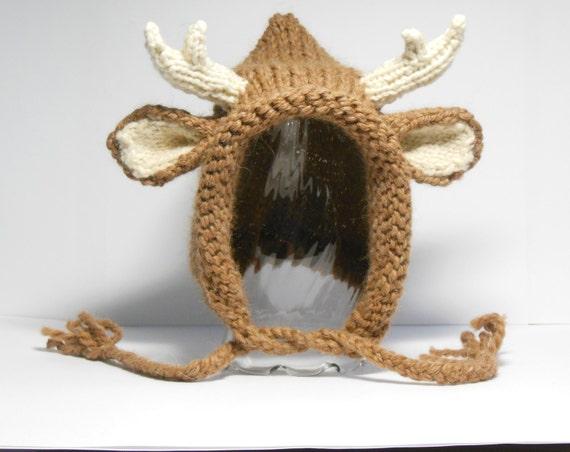 Cappello Maglia Etsy Cervo Di Alpaca Cervi Corna E ArAq14w
