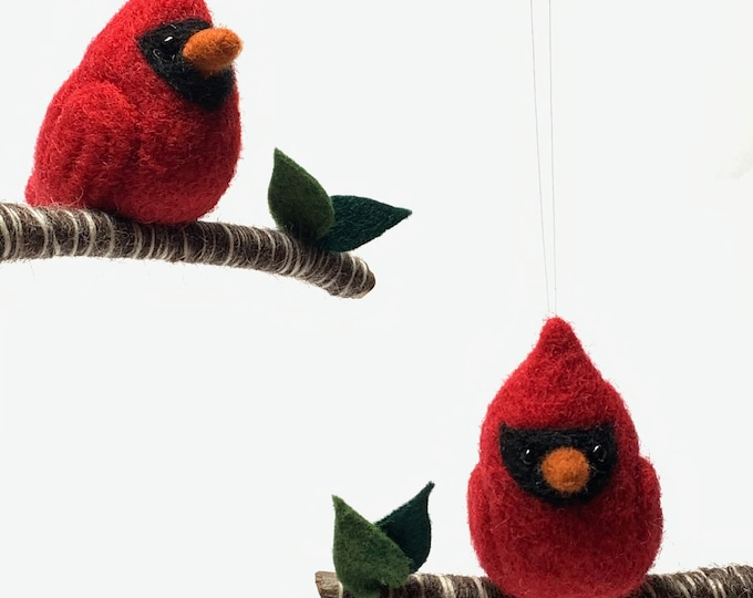 Featured listing image: Needle Felted Bird Ornament