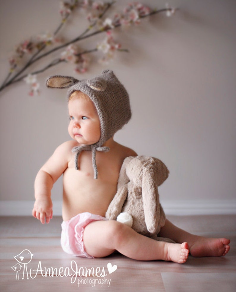 Bunny Hat Baby Bunny Hat Knit Bunny Hat Bunny Ears Easter image 0