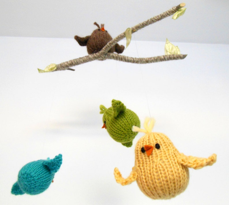 Baby Mobile Bird Mobile Bird Nursery Decor Crib Mobile image 0