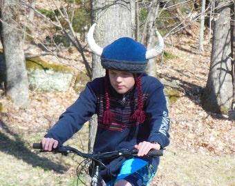 Bike Helmet Cover, Viking Bike Helmet, Bicycle Helmet Accessory, Equestrian helmet cover, ski helmet cover, Knit helmet cover, Novelty gift