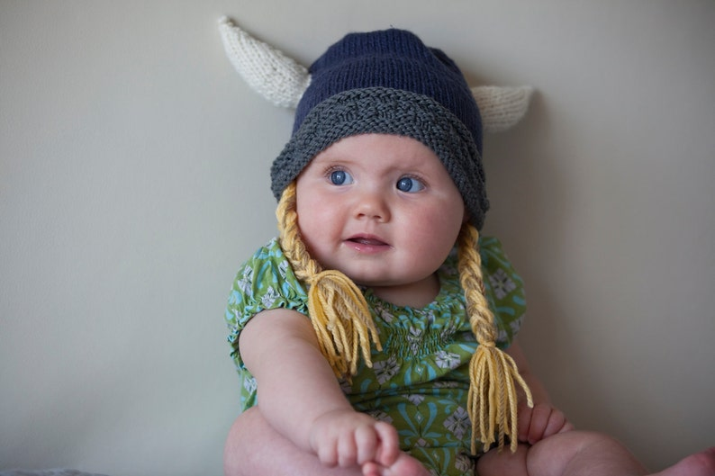 8543f066996fe Viking Hat Viking Helmet Baby Viking Beanie Hat with horns