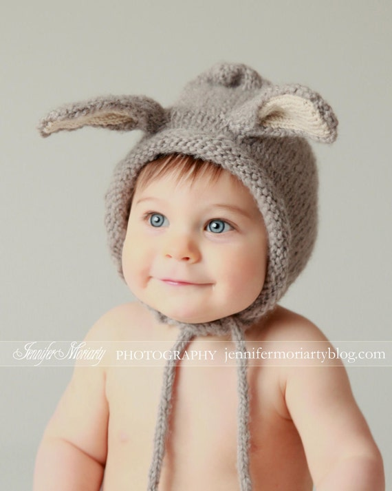 Bunny Hat bébé Bonnet Bonnet lapin oreilles de lapin   Etsy ee3dafb53c9