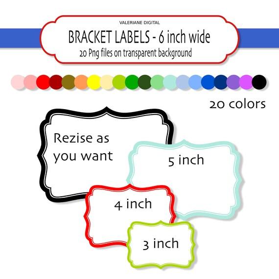 20 Digital Bracket frames or labels - INSTANT DOWNLOAD Digital ...
