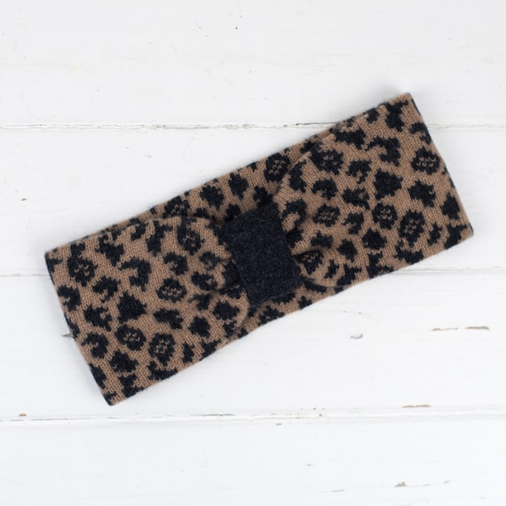 Leopard knitted headband