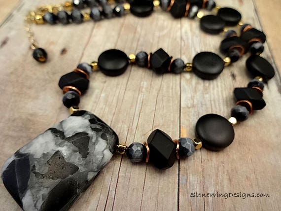 Bohemian Matte Black Onyx Necklace