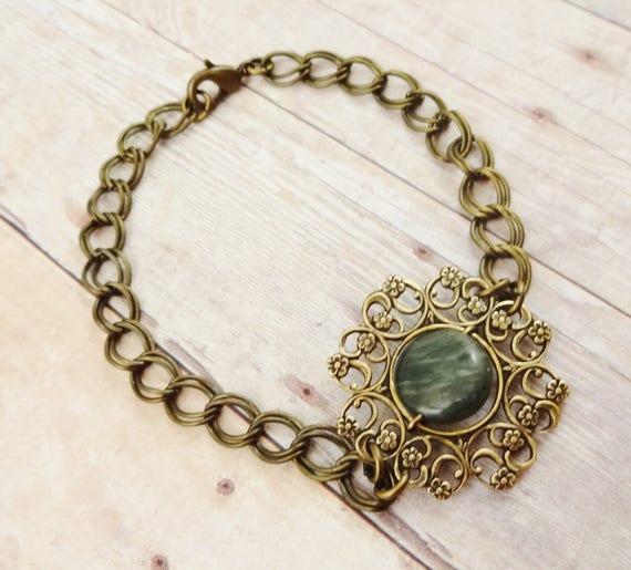 Vintage Style Bracelet, Antique Brass Filigree, Rustic Bracelet, Boho Bracelet, Vintage Style Antique Brass, Bohemian Bracelet