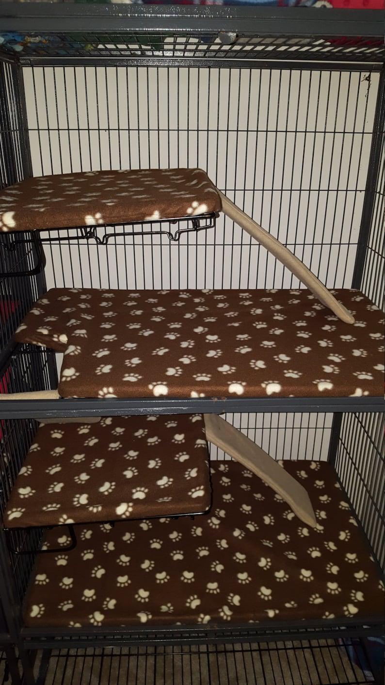 Cutsom Fitted Fleece Liner Set for  Ferret Nation Cages image 0