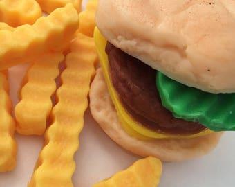 Mini Burger with fries Soap Set