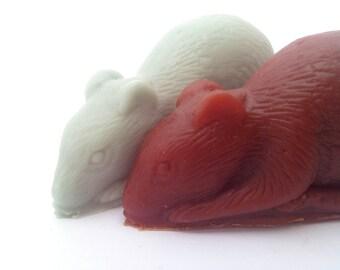 Pair of Rat soaps