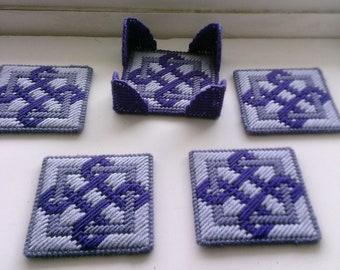 Celtic Coaster Set in Purple