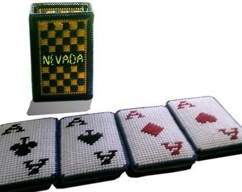 Nevada Cards Coaster Set