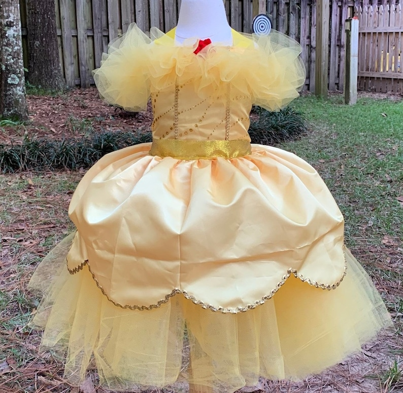 Belle beauty and the beast birthday dress or halloween costume