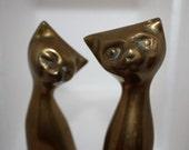 Vintage Metal Cat Figurines
