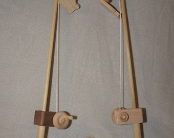 Wooden Toy Fishing Pole Combo With Hook