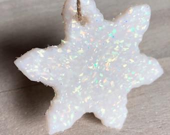 Opal Sparkle Snowflake Ornament