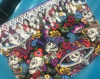 Day of the Dead Skeleton Crossbody Bag