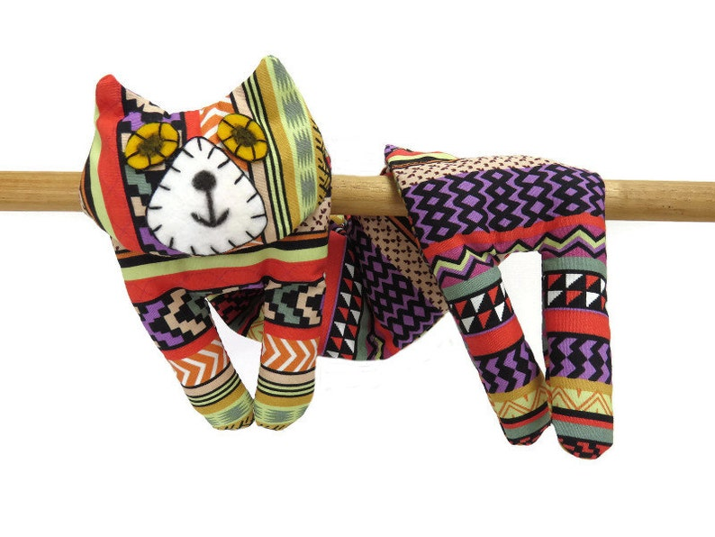 Flat Cat Hot Cold Rice Bag Microwave Neck Wrap Rice Heating image 0