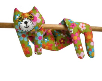 Flat Cat Neck Rice Heat Pad - Hot Cold Rice Bag - Microwave Neck Wrap - Rice Heating Pad - Hot Cold Therapy Pack - Blue Green Pink Daisies