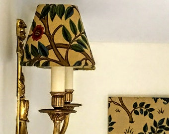 Cairn Gorm in a William Morris design, candle light Lampshade