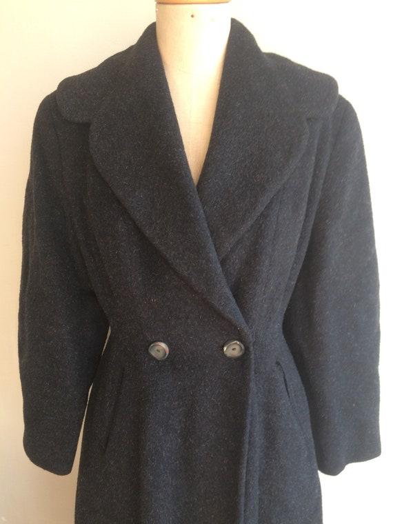 Vintage 1950s Wool Princess Coat - image 4