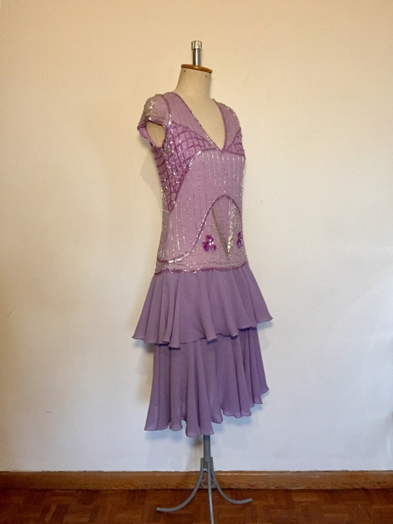 Vintage 1920s style Lilac Flapper Dress
