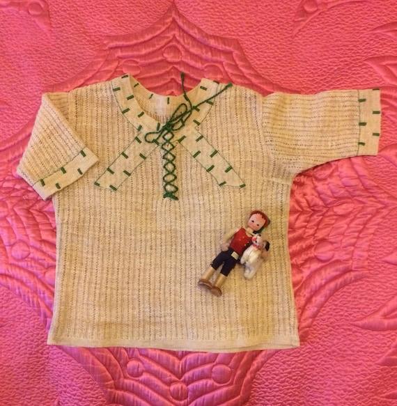 Vintage 1930s Knit Top Lace Up