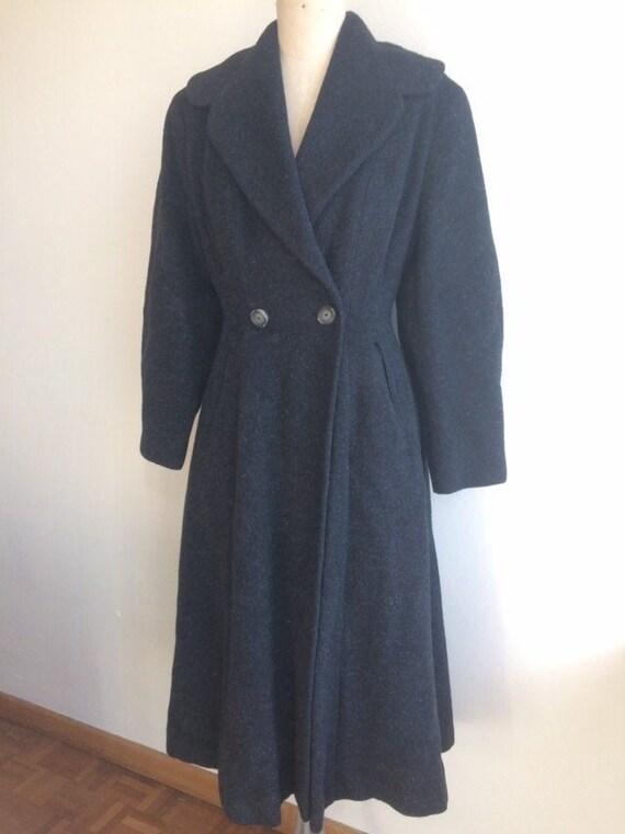 Vintage 1950s Wool Princess Coat