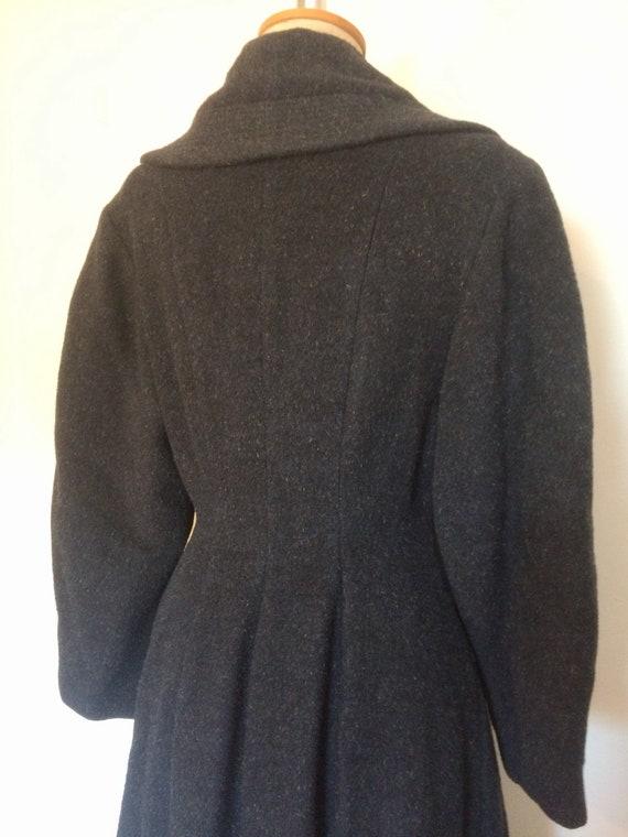 Vintage 1950s Wool Princess Coat - image 5