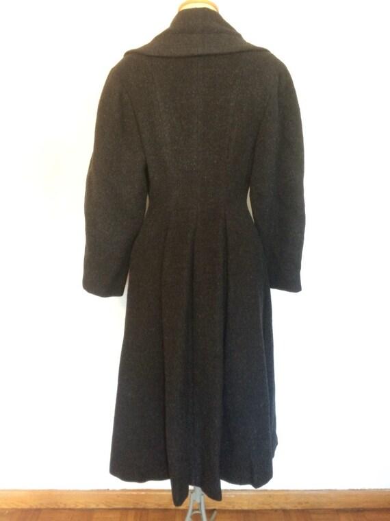 Vintage 1950s Wool Princess Coat - image 3