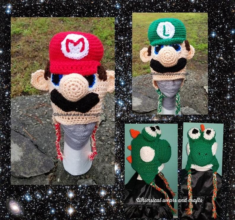 c36e545d9fc6a Super Mario Brothers inspiré chapeaux Yoshi inspiré