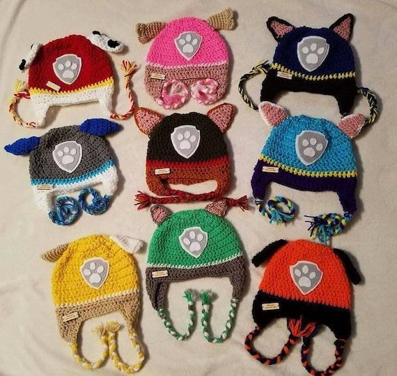 Crochet paw patrol inspired hat. Marshall 19eade97870