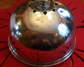 Railroad Dining Car Seaboard Line Toast Cover Dome Silverplate