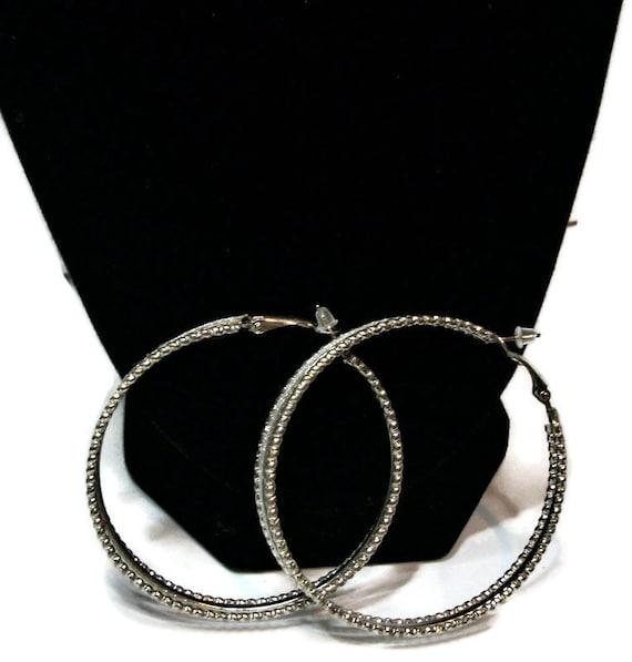 Just reduced, Vintage earrings,  hoop earrings, s… - image 3