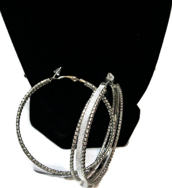 Just reduced, Vintage earrings,  hoop earrings, s… - image 4