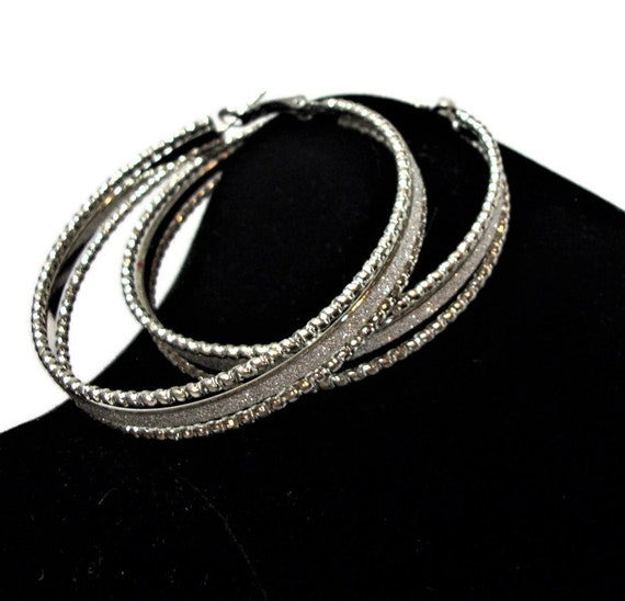 Just reduced, Vintage earrings,  hoop earrings, si
