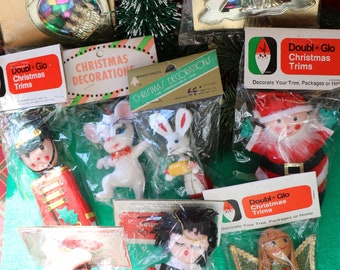 toy easter kitsch child retro christmas gnome plastic easter 50s, 1 vintage egg ornament handmade