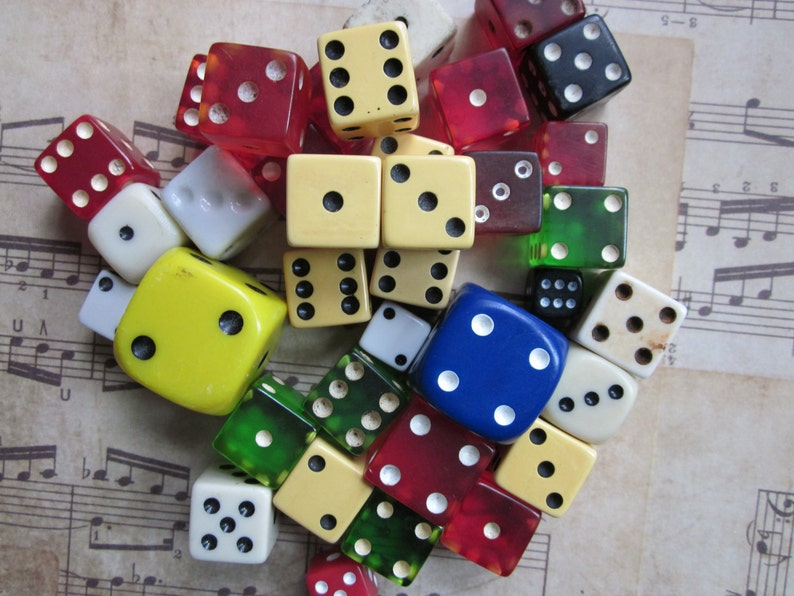 3 Vintage Mixed Dice image 0