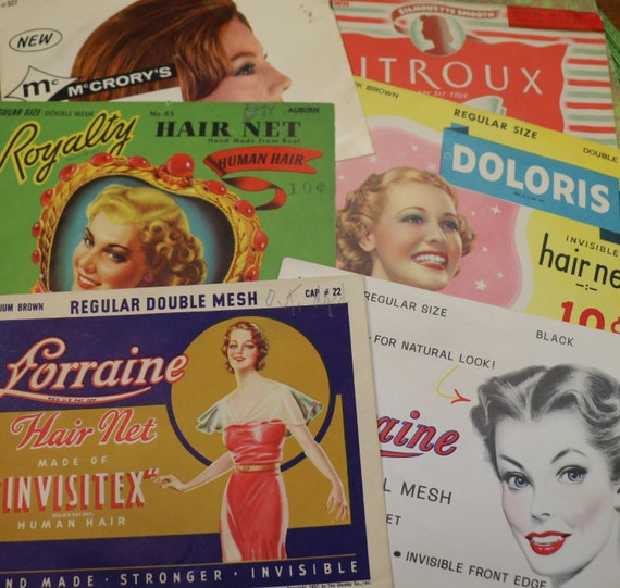 1 Vintage 1940's Hair Net