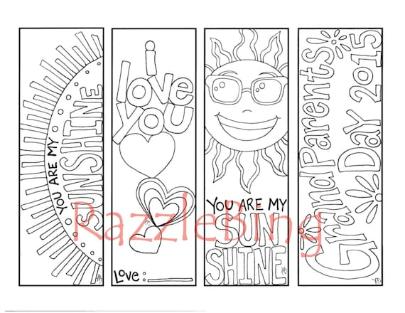 DIY Bookmark Printable Coloring Page-Zentangle Inspired Etsy