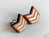 Wood chevron studs. With ...