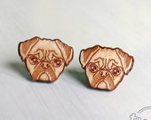 Wood pug studs. With ster...