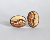 Wood coffee bean studs. W...