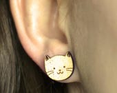 Wood Cat studs. Cute cat ...