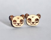Wood Panda studs. With st...