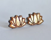 Wood Lotus studs. With st...